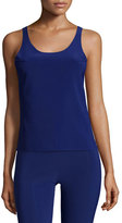Norma Kamali Racer Active Combo Top, Blueberry/Black