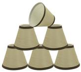 "BEIGE Aspen Creative Corporation 32121-6 Small Hardback Empire Chandelier Clip On Lamp Shade 3""x"
