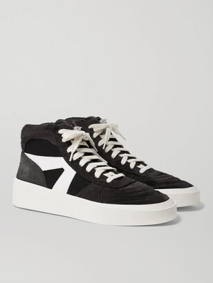 Fear Of God Suede, Leather And Canvas High-Top Sneakers