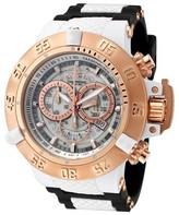 Invicta Men's 0931 Subaqua Quartz Chronograph White Dial Strap Watch - White