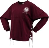 Unbranded Women's Maroon Texas A&M Aggies Chunky Side Lace-Up Spirit Jersey T-Shirt