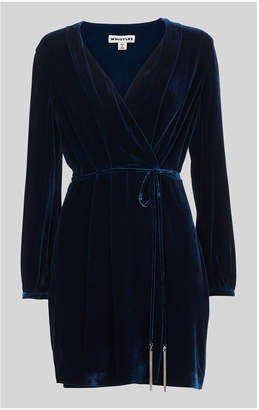 Whistles Lavone Silk Mix Velvet Dress
