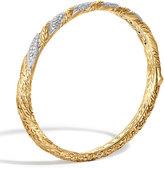 John Hardy Classic Chain Hinged Diamond Bangle