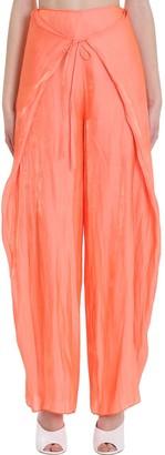 Kenzo Pants In Orange Polyester