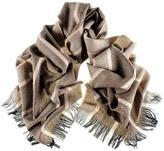 Conza Black Beige and Grey Italian Wool Scarf