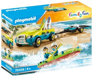 Playmobil Family Fun Beach Car and Canoe