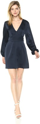The Fifth Label Women's Moonlit Long Gathered Sleeve V Neck Mini Dress
