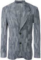 Neil Barrett zig-zag jacquard blazer - men - Polyester/Spandex/Elastane/Viscose/Virgin Wool - 52