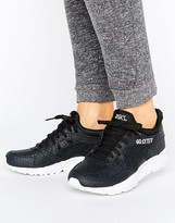 Asics Textured Leather Gel-Lyte V Sneakers In Black