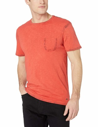 Buffalo David Bitton Men's Short Sleeve Crew Neck Knit with Front Pocket