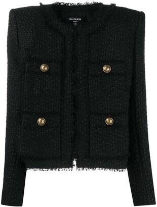 Balmain Structured Tweed Jacket