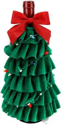 St Nicholas Square LED Christmas Tree Wine Bottle Cover