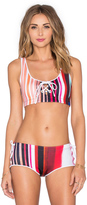 Clover Canyon Striped Eclipse Bikini Top