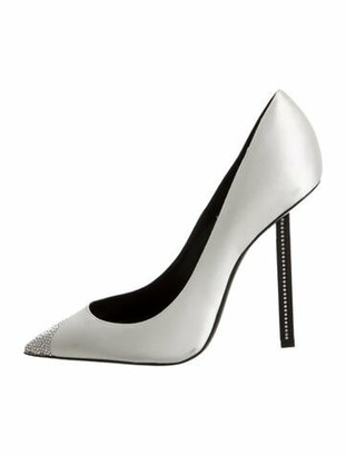 Saint Laurent Tower 110 Crystal Embellishments Pumps