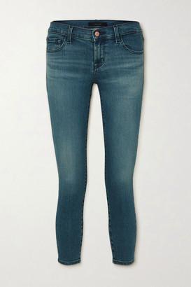 J Brand 9326 Cropped Low-rise Skinny Jeans - Mid denim