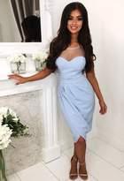 Pink Boutique Bridget Blue Crepe Midi Dress