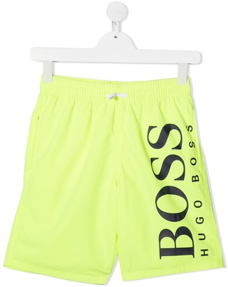 Boss Kidswear TEEN logo print track shorts