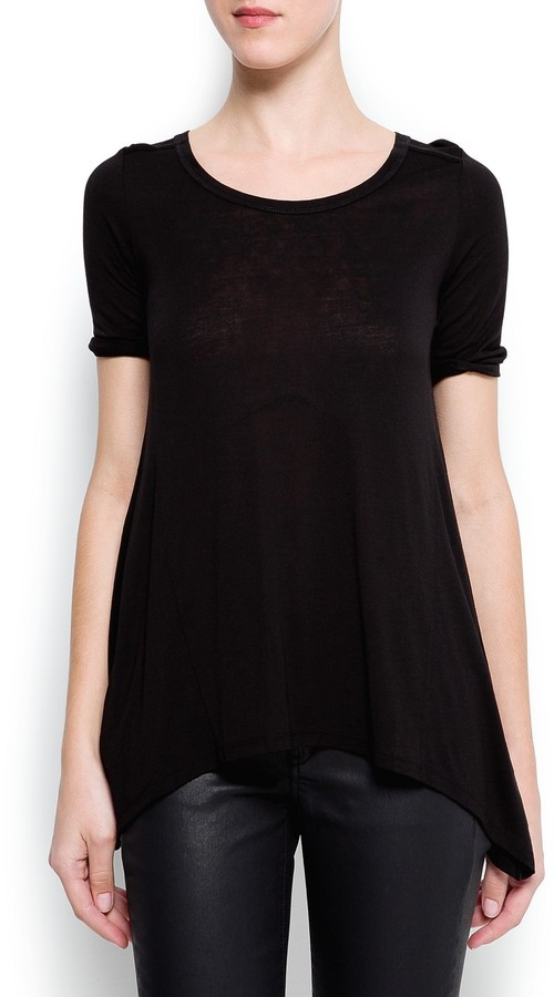 MANGO Loose-fit pointed t-shirt