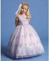 Angels Garment Lilac Criss Cross Tie Back Easter Dress Toddler Girls