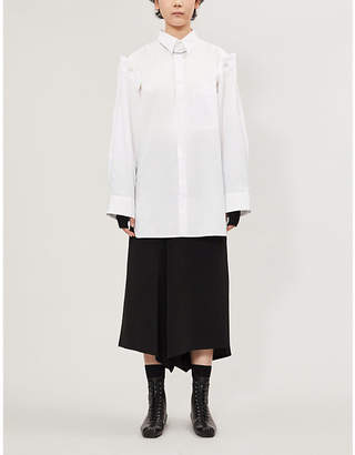 Y's Ys Detachable-sleeve cotton shirt