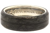 David Yurman 925 Sterling Silver with Forged Carbon Wedding Band Ring