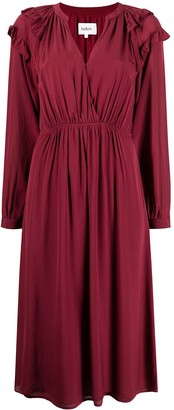 BA&SH Ulla ruffled-shoulder smock dress