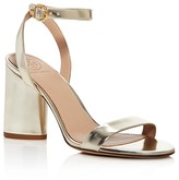 Tory Burch Elizabeth Metallic Leather Ankle Strap High Heel Sandals