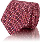 Kiton Men's Geometric-Print Silk Repp Necktie