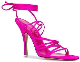 ATTICO Lace-Up Square Toe Sandals