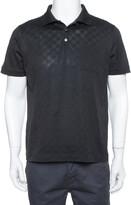Thumbnail for your product : Louis Vuitton Louis Vuitto Black Cotton Damier Pique Polo T-Shirt L