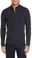 Velvet by Graham & Spencer Men's Kase Mock Neck Front Zip Cashmere Sweater