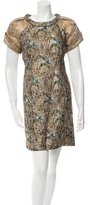 Matthew Williamson Metallic Patterned Dress