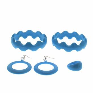 Zac's Alter Ego® Zac's Alter Ego Bright Plastic Jewellery Set - Crinkle Bangles