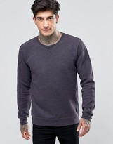 Scotch & Soda Sweatshirt With Raglan Sleeves And Contrast Cuff In Plumb Marl