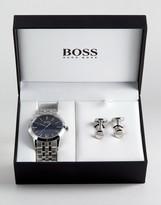 Boss By Hugo Boss Bracelet Strap Watch & Cufflink Gift Set 1570047