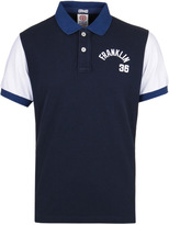 Franklin & Marshall Navy Piquet Contrast Sleeve Polo Shirt