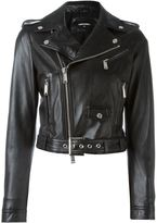 DSQUARED2 classic biker jacket - women - Calf Leather/Polyamide/Polyester/Viscose - 44