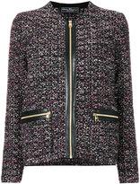 Salvatore Ferragamo embroidered jacket - women - Cotton/Acrylic/Polyamide/Virgin Wool - S