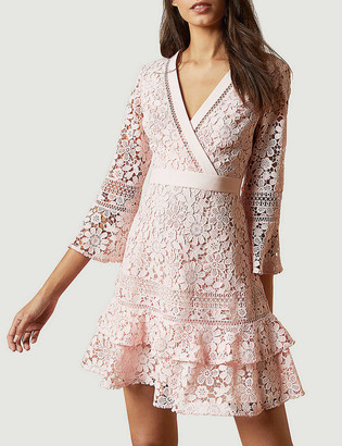 Ted Baker Nello V-neck lace mini dress