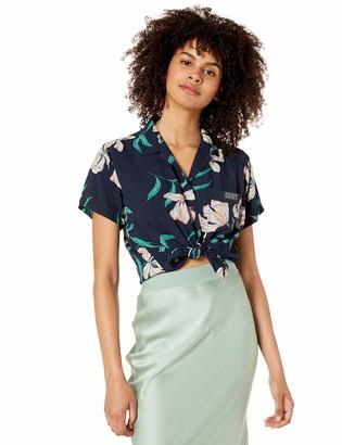 Obey Womens Sunset Shirt Button Down Shirt