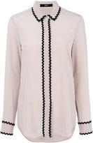 Steffen Schraut contrast trim blouse - women - Silk/Spandex/Elastane - 34