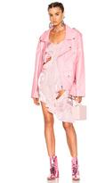 Marques Almeida Marques ' Almeida Oversized Biker Jacket in Pink.