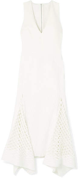 Dion Lee Cutout Neoprene And Stretch-knit Midi Dress - White