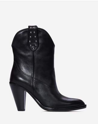 Paige Wendy Boot - Black Leather