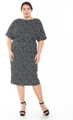 Alexia Admor Plus Size Jacqueline Dolman-Sleeve Sheath Dress