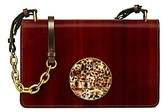 Tory Burch Sadie Wood-Grain Shoulder Bag