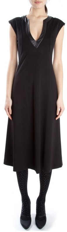 Cynthia Rowley Slit Neck with Leather