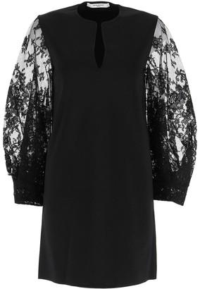 Givenchy Lace Sleeve Mini Dress