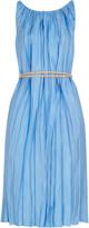 Nina Ricci Pleated satin-twill dress