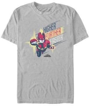 Marvel Men's Captain Higher, Further, Faster Captain Short Sleeve T-Shirt